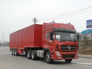 14m 3axles Van Type Semi-Trailer