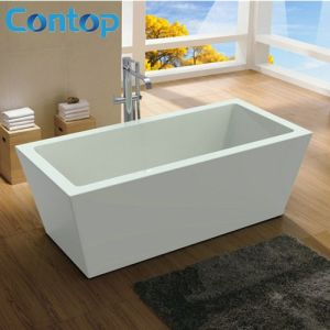 Australia Standard Modern Style Acrylic Square Free Standing Bathtub pictures & photos