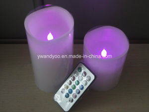 Purple Remote Control LED Candle