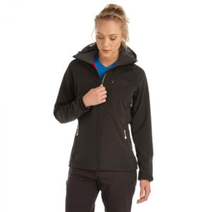 2016 Wholesales Women Softshell Jacket in Black Colour pictures & photos