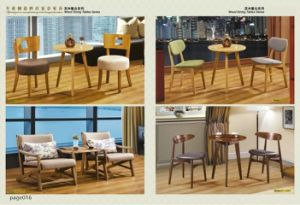 Nordic Style Best Price Italian Wood Dining Table and Chairs pictures & photos