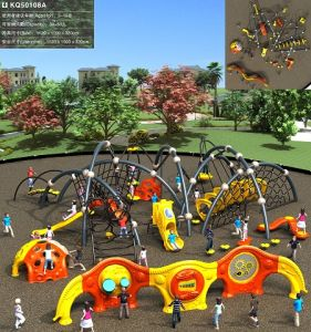 Kaiqi Outdoor Climbing Series for Children′s Playground Set with Rope Nets, Climbing and More! (KQ21063A) pictures & photos