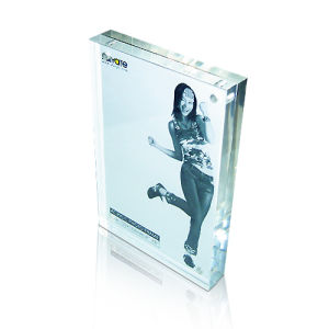 Hot Sales Clear Acrylic Poster Display Frame, Acrylic Signage Block pictures & photos