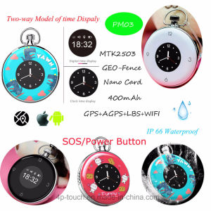 IP66 Waterproof Mini GPS Tracker with Time display Pm03 pictures & photos