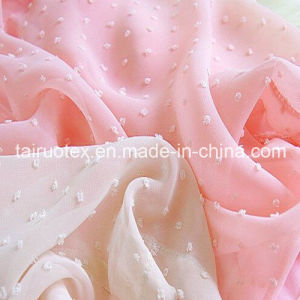 Polyester Jacquard Chiffon for Lady Dress and Shirt Cloth pictures & photos