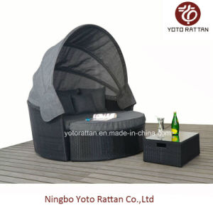 Outdoor Wicker Big Daybed in Black (1315) pictures & photos