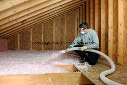 Heat Preservation Non Frammable Hydrophobic Glass Fiber Spraying Batt pictures & photos