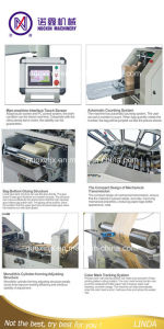 Roll Feeding Square Button Paper Bag Making Machine pictures & photos