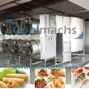 IQF Spiral Freezer for Fish/Seafood/Chicken/Vegetables/Fruits pictures & photos
