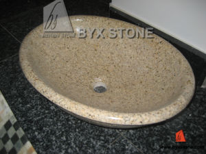 Yellow G682 Granite Stone Kitchen Basin and Bathroom Sink pictures & photos