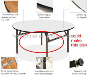 Folding White Round Plywood Dining Table, Banquet Plywood Dining Table pictures & photos