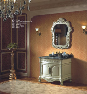 Solid Wooden Furniture Bath Cabinet (YJ-606) pictures & photos