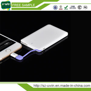 Credit Card Mobile Power Bank 2200mAh with CE, RoHS, FCC pictures & photos