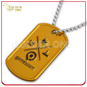 Stylish Silver Plated Zinc Alloy Dog Tag with Glitter Finish pictures & photos