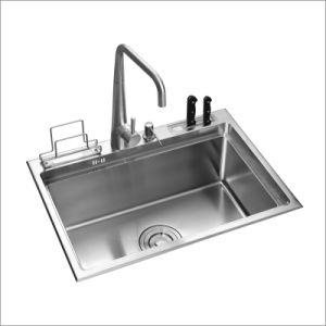 Kitchen Stainless Hand Made Sink (8049S) pictures & photos