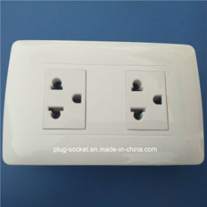 South America ABS Shell Copper Contact Material High Quality Wall Socket (W-091) pictures & photos