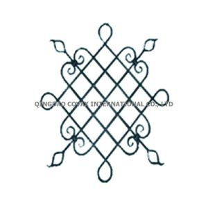 Decorative Wrought iron flower panel 11065 / Wrought Iron Rosette pictures & photos