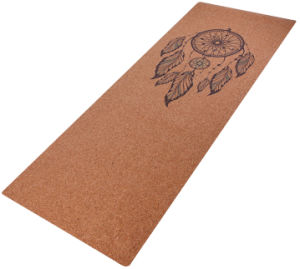 Dreamcatcher Design Printed Yoga Mat, with Natural Cork Surface pictures & photos