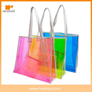 China Bag Heanoo Promotional Stripe PVC Tote Beach Bag pictures & photos