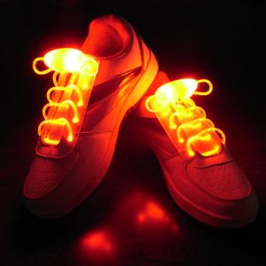 Light up Flashing LED Shoelace with Battery for Evert pictures & photos