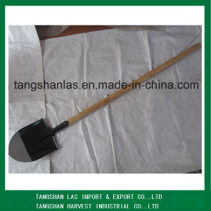 Spade Round Point Long Wood Handle Shovel Spade S503L pictures & photos