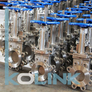 Lug Type Stainless Steel Knife Gate Valve Uni-Directional pictures & photos