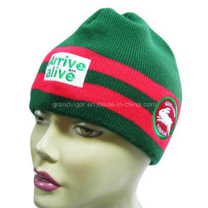 Fashion Knitted Acrylic Beanie with Embroidery Logo pictures & photos