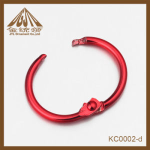 Fashion Nice Quality 19mm Wholesale Binder Rings in Red Color pictures & photos