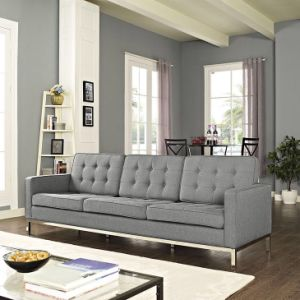 Home Furniture 3 Seater Fabric Sofa Set pictures & photos