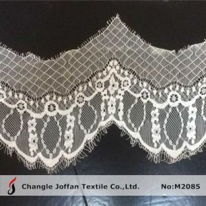 Jacquard Eyelash Scalloped Lace for Dresses (M2085) pictures & photos