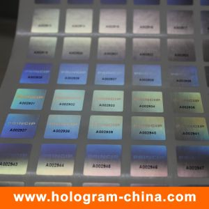 3D Laser Security Black Serial Number Hologram Sticker pictures & photos