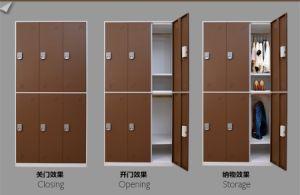 Steel Locker 6 Door Metal Cabinet Wardrobe Code Lock Locker pictures & photos