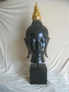 Supply Buddha Bust Statue with High Quality Paintting pictures & photos