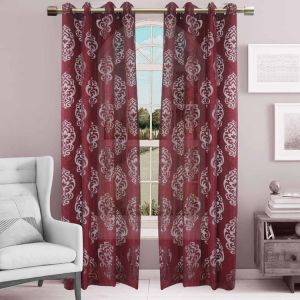 Jacquard Sheer Grommet Panel Window Curtain (HR14WT081) pictures & photos