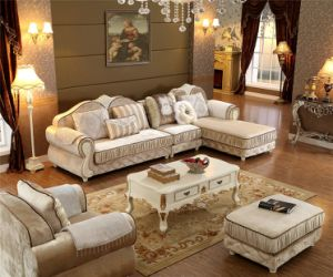 French Style Sofa Sets Solid Wooden Frame and High Quality Fabric and Sponge pictures & photos