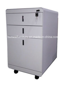 High Quality Steel Office Filing Movable Cabinet with 3 Drawers