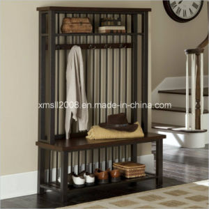 Entryway Metal Rack Coat Rack Shoes Rack with CE (G-HT08) pictures & photos