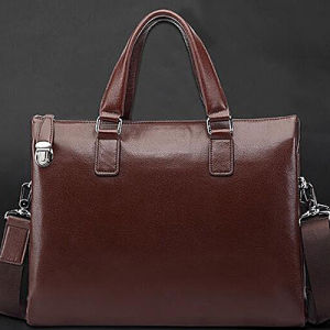 High Class Business Leather Handbag Classical Man′s Briefcase (M3124) pictures & photos