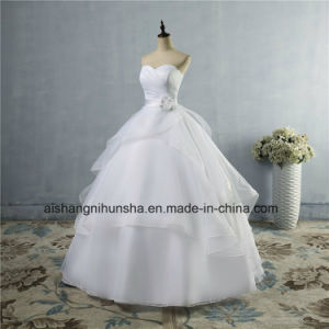 High Quality Wedding Dress Lace up Back Women′s Wedding Gown pictures & photos