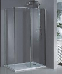 Safety Tempered Glass Wet Room Hm1382 pictures & photos