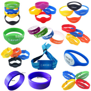 Passive Lf or Hf Silicone RFID Wristband Bracelet pictures & photos