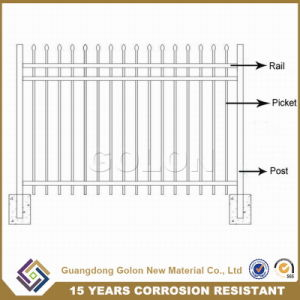Black Powder Coated Security Backyard Steel Picket Fence pictures & photos