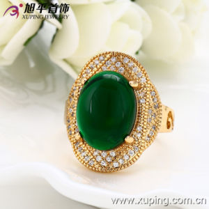 Fashion Luxury 18k Gold-Plated Jewelry Men Ring with Environmental Copper -12846 pictures & photos