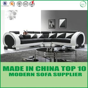 Wooden Frame Modern Furniture Leather Sofa pictures & photos