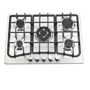 Cheap Price 5 Burner 201 Stainless Steel Cooktop Gas Stove pictures & photos