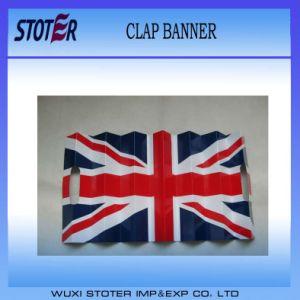 UK Flag Paper Clapper Banner, Banner Clapper, Clap Banner