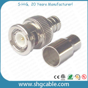 F Female to BNC Male Adapter Connector for Coaxial Cable Rg59 RG6 pictures & photos