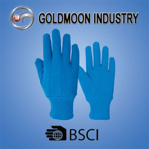 Blue Dotted Gardening Safety Work Glove pictures & photos