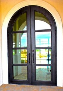 French Entry Wrought Doors in Exterior Position Double Design (UID-D135) pictures & photos