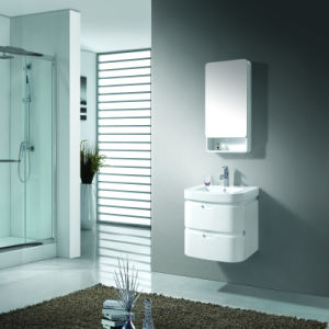 Wall Mounted Wooden Bathroom Vanity with Mirror Cabinet